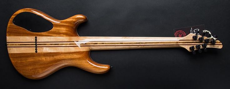 Mayones Regius 7 7-String Electric Guitar with Buckeye Burl Top in Transparent Natural Gloss Finish