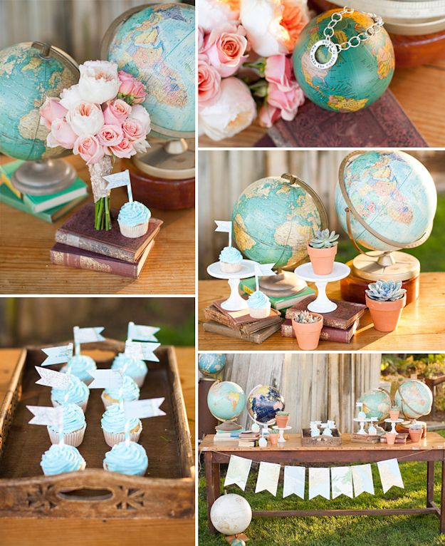 Home decor Love makes the world go round party travel