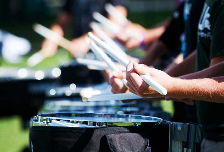 The Best Drumline in the World-Just Sayin'! Dom is closest to you.