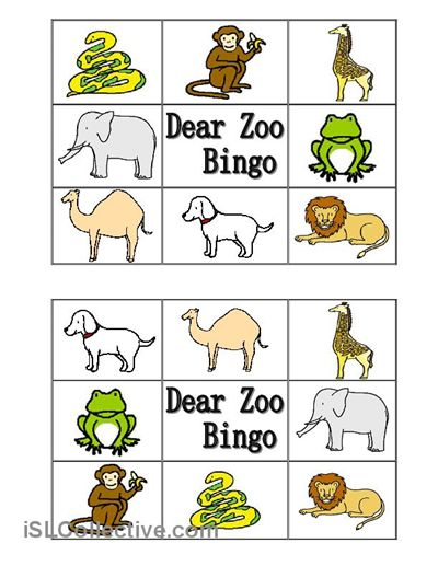 dear zoo animal bingo worksheet free esl printable worksheets made by teachers