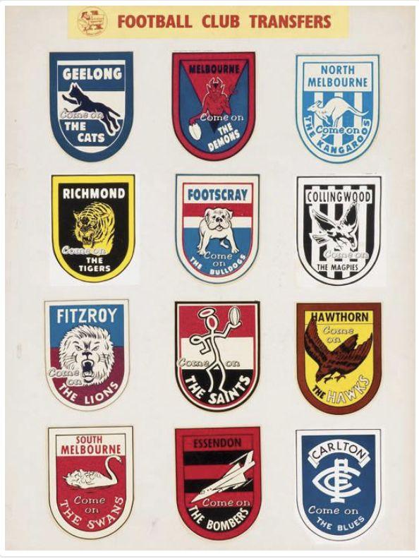 Footscray Bulldogs AFL-VFL 1980s Large Card Plastic Pin