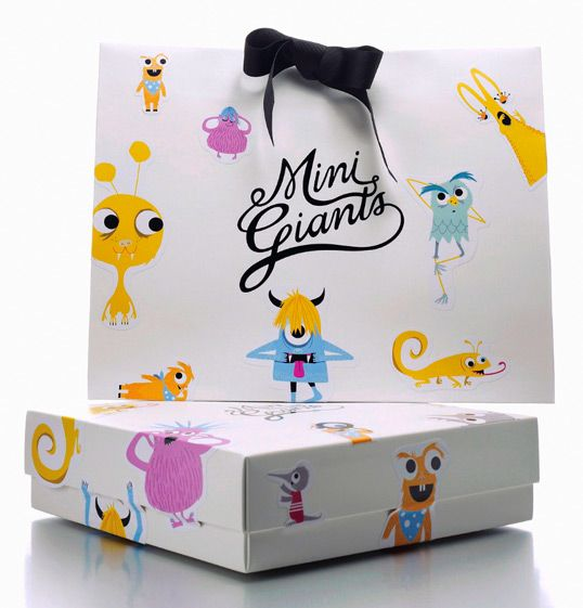 Mini Giants, Packaging Cute, fun & stylish. Designed by Camilla Lilliesköld