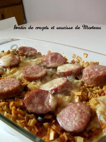 Gratin de crozets et saucisse de Morteau