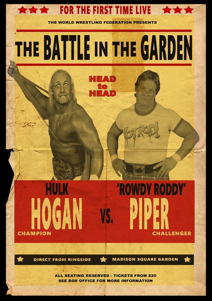 #wwe #wrestling #WWFclassic #hulkhogan #roddypiper #wrestlingposter