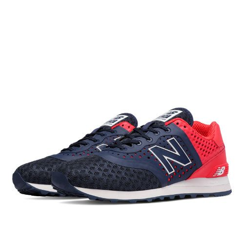 New Balance Men's Black 574 Sneakers red Frome Our Site