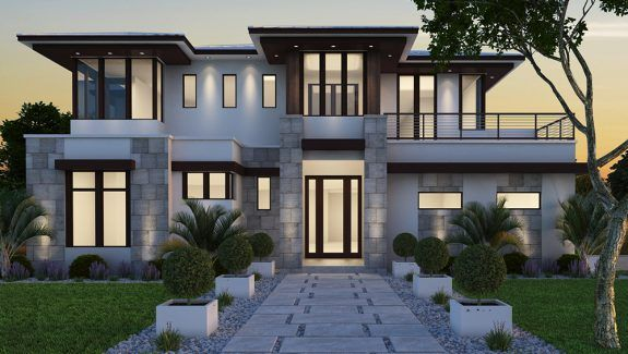 Search For Plans Distinctive House Plans Prairie Style Houses House Designs Exterior House With Balcony
