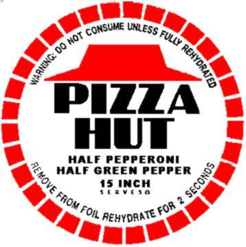 Pizza Hut 2015 emballage - RVLF ★ Retour Vers Le Futur (BTTF ★ Back To The Future)