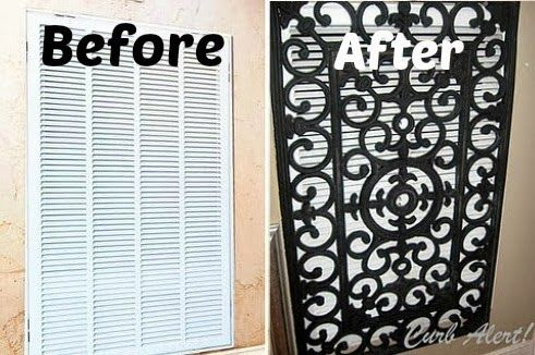 Use a Door Mat to cover the Air Vent. Brilliant idea! Click on the picture to get the instructions on how to make it @ http://tamicurbalert.blogspot.com