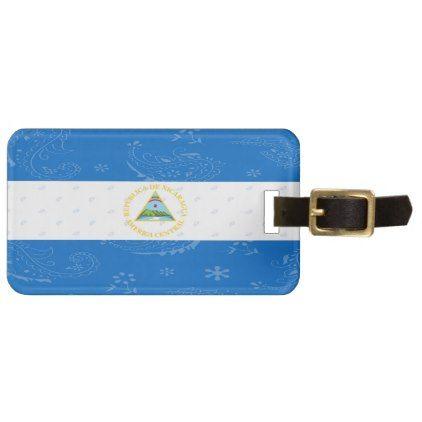 Nicaragua Flag Luggage Tag - accessories accessory gift idea stylish unique custom