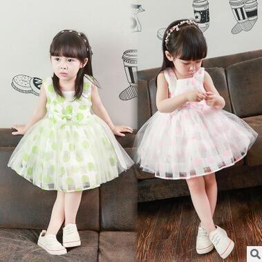 Тепла! Девушка летом 2016 года розничная красивая девушка платье принцессы детское платье кружева с бантом пачка детской одежды
