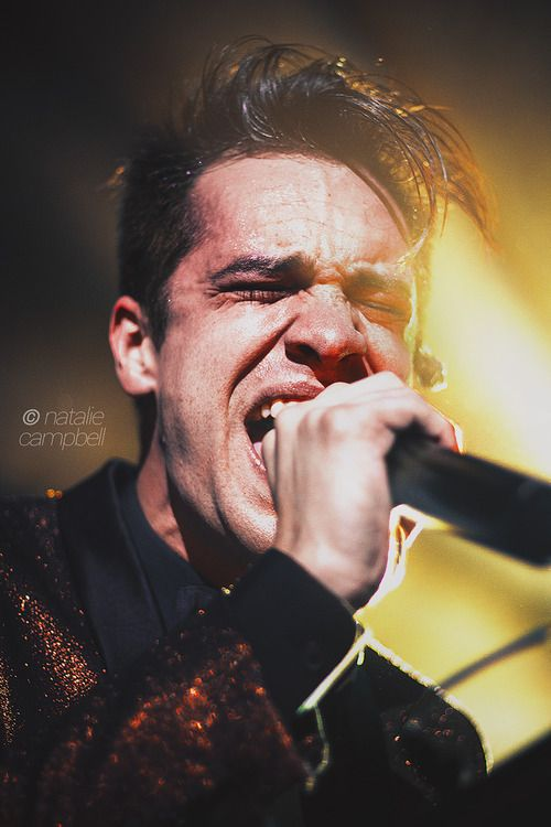 Brendon Urie: sexy enough without the voice, but then you hear it and oops you're pregnant