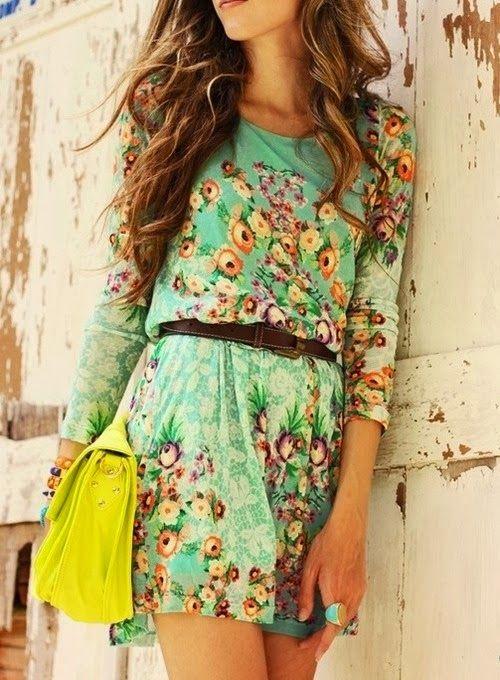 OUTFIT DEL DÍA: Vestidos floreados estilo Vintage 2014