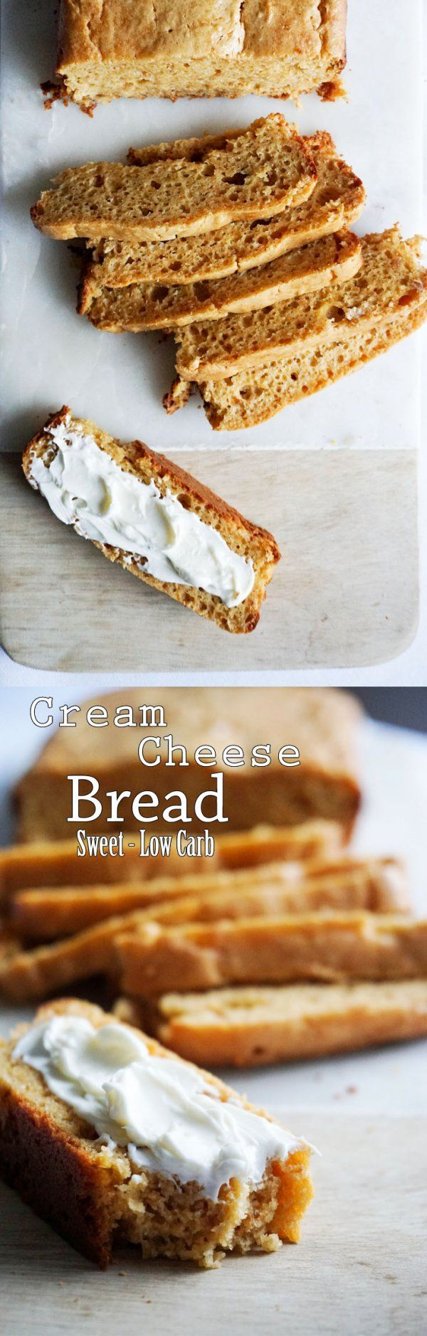 Subtly sweet keto cream cheese bread