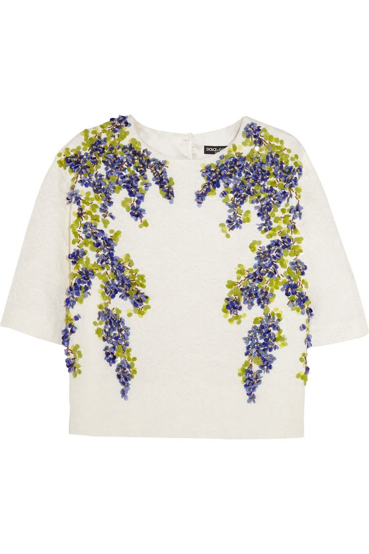 Dolce & Gabbana Embellished jacquard top NET-A-PORTER.COM