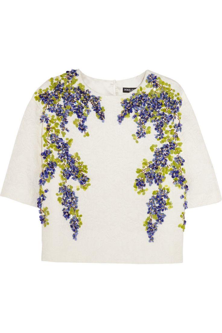 Dolce & Gabbana|Embellished jacquard top|NET-A-PORTER.COM