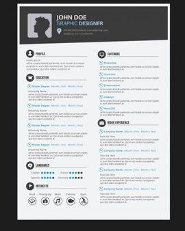 グラフィックデザイナーの履歴書テンプレート