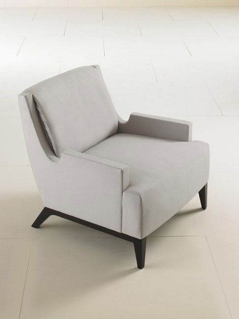 commercial contemporary armchair PERFECT PITCH by Barbara Barry HBF