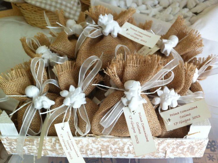 Wedding Bomboniere Gifts: Sacchetti Juta E Gessetti Bomboniere