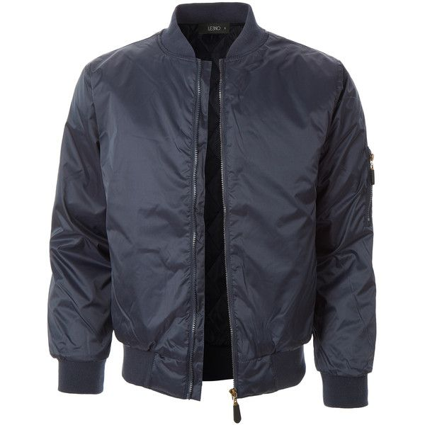 LE3NO Mens Lightweight Classic Zip Up Bomber Jacket (240 HKD) ❤ liked on Polyvore featuring men's fashion, men's clothing, men's outerwear, men's jackets, mens jackets, mens lightweight bomber jacket, mens blouson jacket and mens lightweight jacket