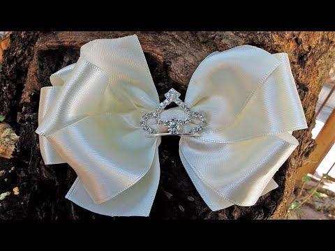 Laço de gorgurão com manta de strass na faixa de meia de seda ( DIY ) PAP By Iris Lima - YouTube