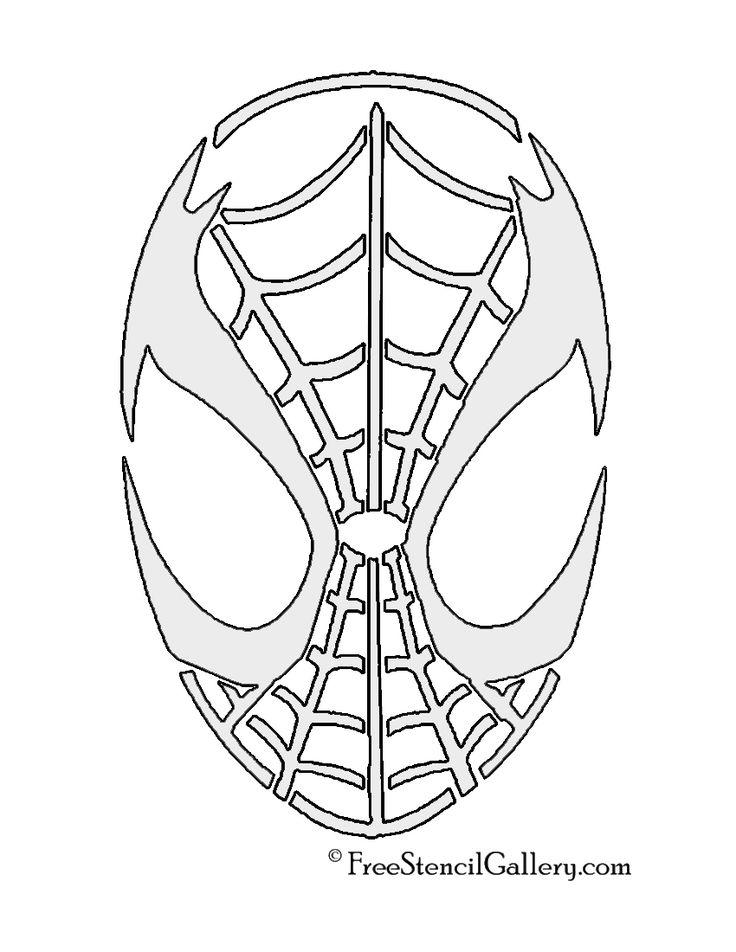 Spiderman Mask Stencil