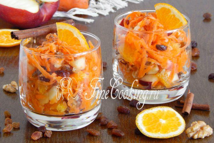 Сладкий салат из моркови, яблока и апельсина - рецепт с фото