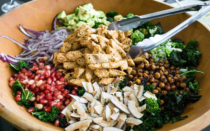 Colourful Chicken Kale Salad