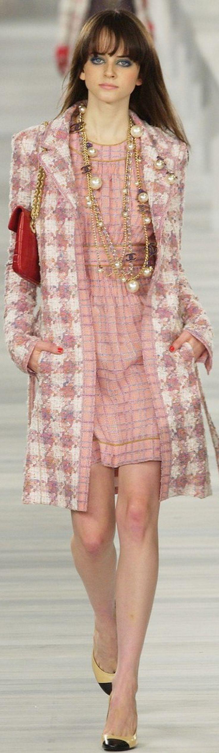 Chanel ~ Pink Plaid Mini/w Topcoat, 2004