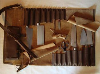 Jende Leather Knife Roll Amazing