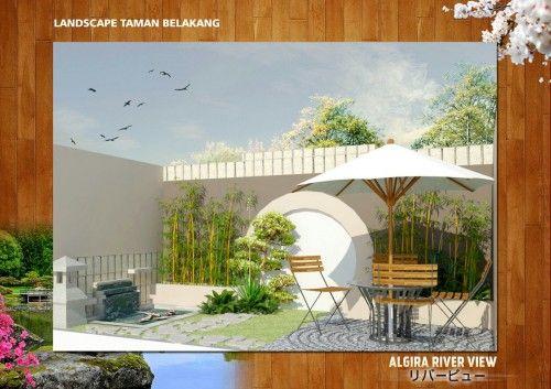 halaman belakang  #algira #riverview #property #syariah