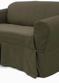 Elegant Ribbed Cafe furniture slipcover. Now that's a sofa cover!
