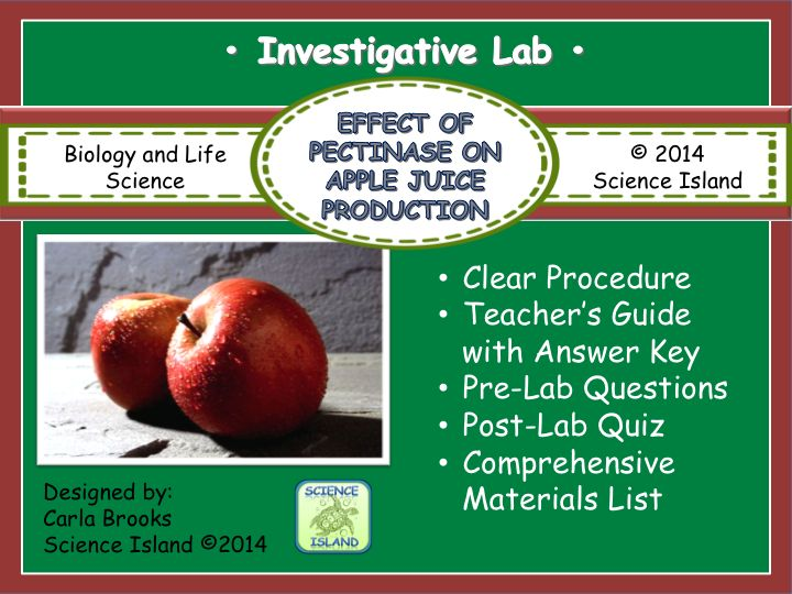 45 best introduction to biology images on pinterest science enzyme lab the effect of pectinase on the production of apple juice fandeluxe Images