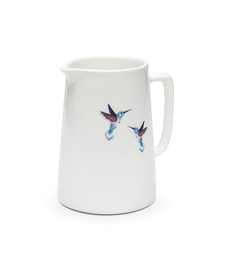 Hummingbird Jug Large by Ema Frost $59 18cm high x 10cm round  Use for flowers as well as a jug