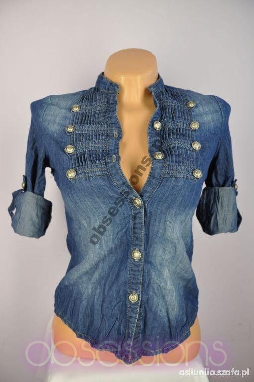 Znalezione obrazy dla zapytania bluzka jeansowa