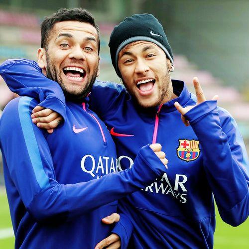 Neymar e Dani Alves - Barcelona