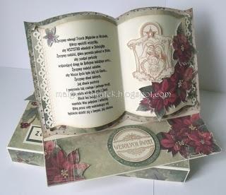 Christmas Book Easel Card - bjl