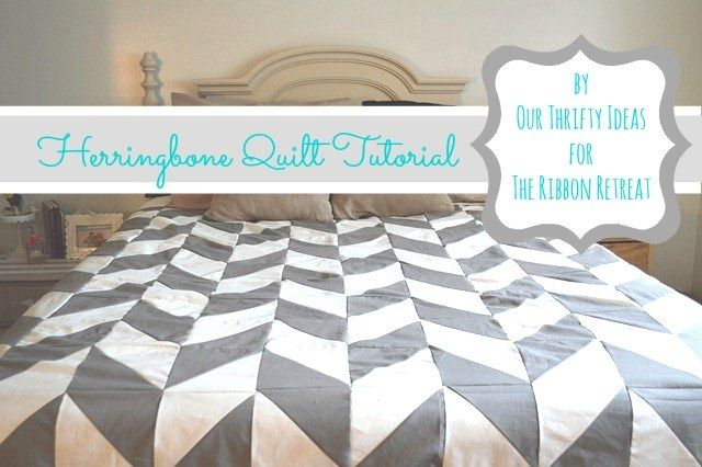 Herringbone Quilt Tutorial--Love the layout, not so much the piecing directions