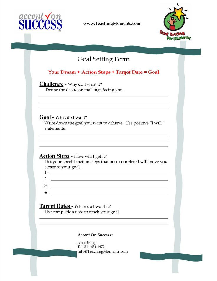 goal setting worksheet the leader in me and the seven habits pinterest worksheets goal. Black Bedroom Furniture Sets. Home Design Ideas