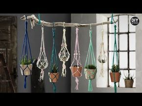 ▶ Free 10 knot Macrame Plant Hanger Project Instructions from MacrameForFun.com - YouTube