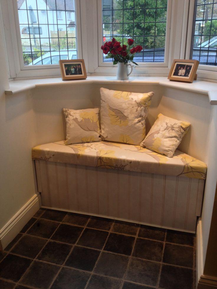 Kitchen Window seat - laura ashley upholstery fabrics #windowseat