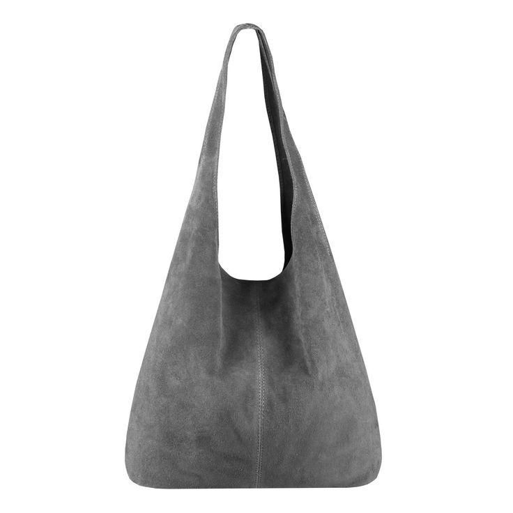 MADE IN ITALY DAMEN LEDER TASCHE Handtasche Wildleder Shopper Schultertasche #handtasche