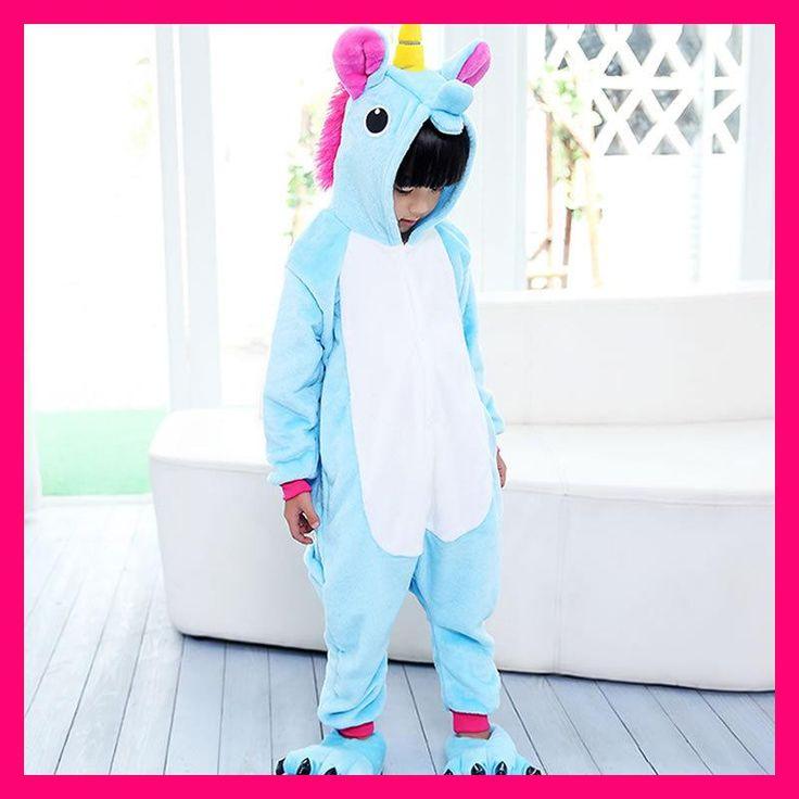 One Piece Unisex Children Unicorn Pajamas Kids Tenma Pajamas Sets Animal Costume Anime Cosplay Sleepwear Party Winter unicornio