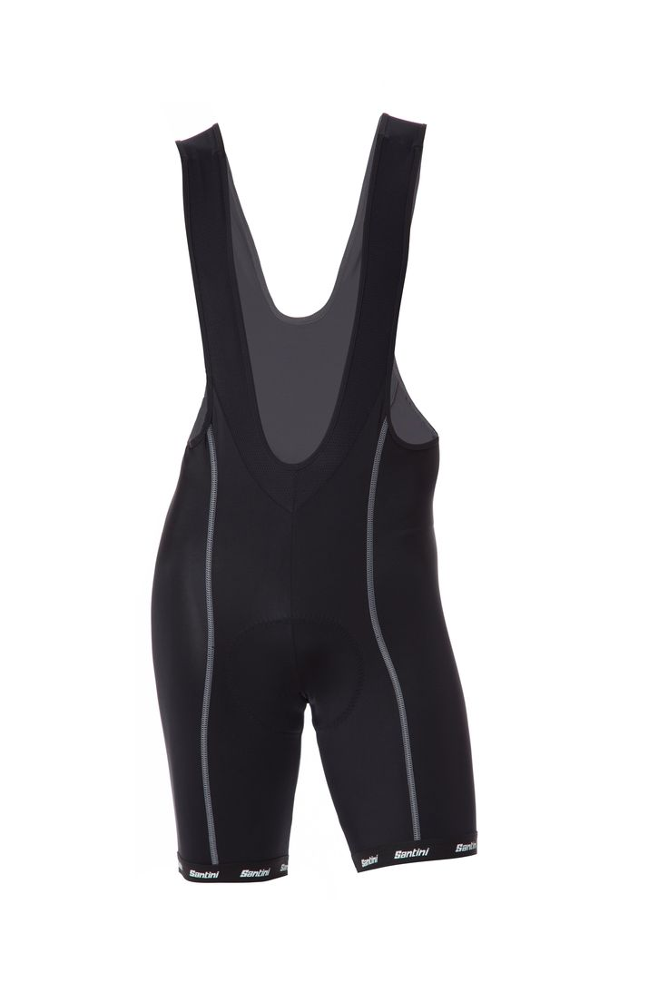 Men's US Sportivo Cycling Bib Shorts in Black (GIT Pad) - made in Italy by Santini