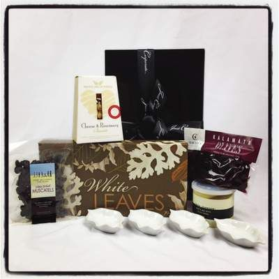 A quality styled Gourmet Gift Basket with tasting plate and nibbles. A great little starter to any party! Click here to buy online now for $82.00 http://www.justcorporate.net.au/gifts/all-gifts/white-leaves-taster/