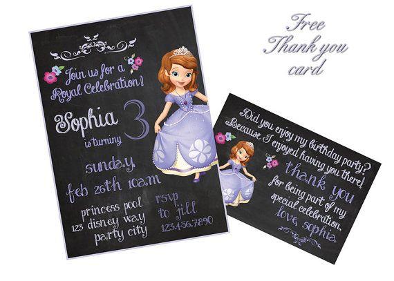 Sofia invitation Princess Sofia Invitation Sofia the First