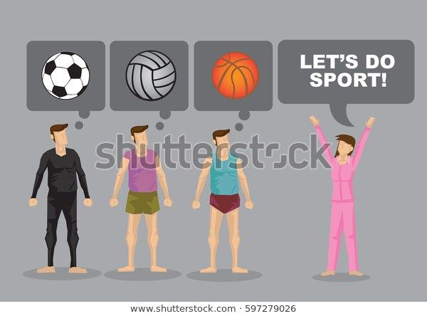 Lets Do Sport And Cartoon Man Think About Different Ball Games Fredtography Vector Business Businessman Shutter Cartoon Man Business Illustration Cartoon