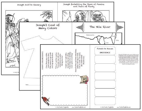 Free bible printables for children unit study two coloring pages