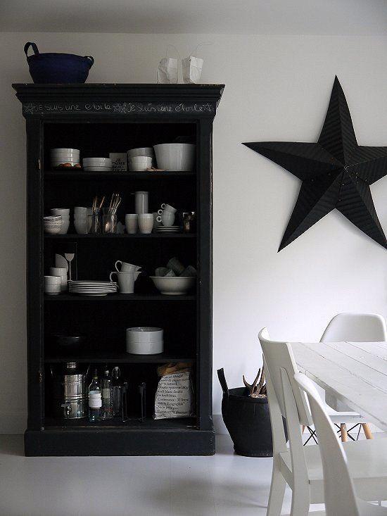 blackboard cupboard with writing