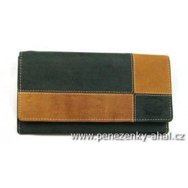 Peněženka dámská kožená ze dvou barevných kůží prošívaná bílou nití která zvýrazňuje celou peněženku. Další kožené peněženky Always Wild v nabídce.