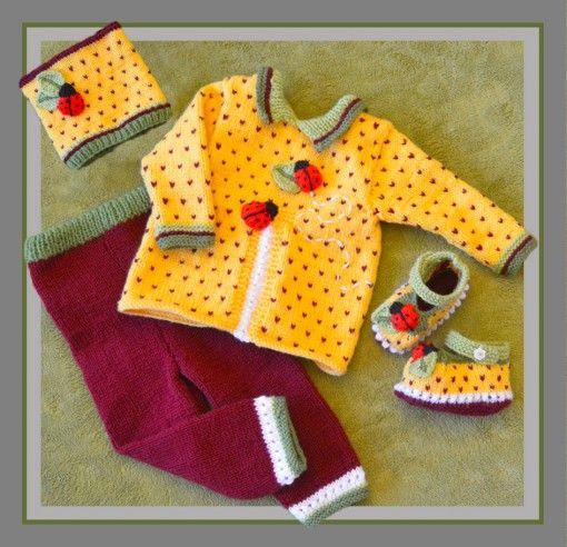Granadilla (Passion fruit) Ladybug baby set found at www.tbeecosy.com